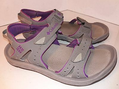 Columbia Techsun IIIGray Purple Sport Sandals Womens Size 9 ()