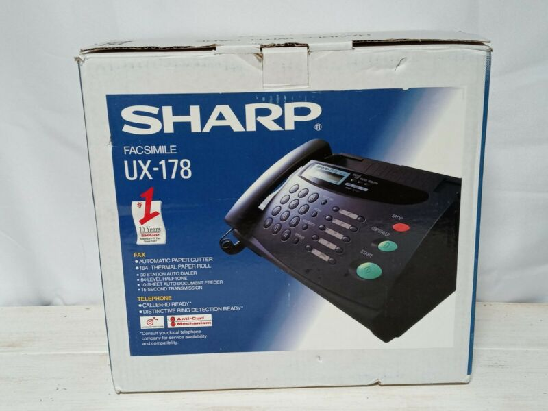 Sharp Ux-178 Telephone/Fax Machine Thermal Printing Automatic Paper Cutter Feed