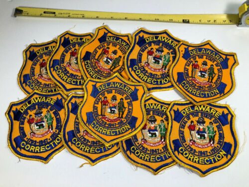 DELAWARE STATE SEAL CORRECTIONS PRISON PATCH LOT (10) VINTAGE NOS