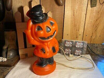Vintage 1969 Empire Plastic Company Blow Mold Pumpkin Scarecrow Decoration