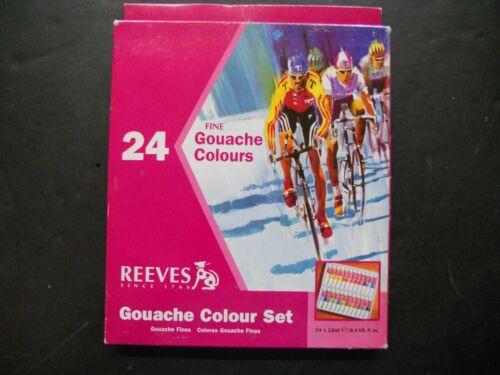 Reeves 24-Pack Gouache Color Tube Set, 12ml (I)