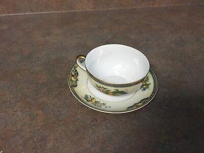 Vintage Noritake Vintonia Fruit Design Circa Cup & Saucer Set