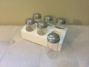 Glass Bottle Spice Rack