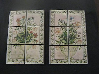 Dollshouse 1/12th.Scale Tiled Panels,for Kitchen/Bathroom.