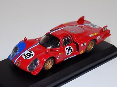 121/43 Best Model Alfa Romeo 33.2 Car #36 from 1969 24 H of LeMans