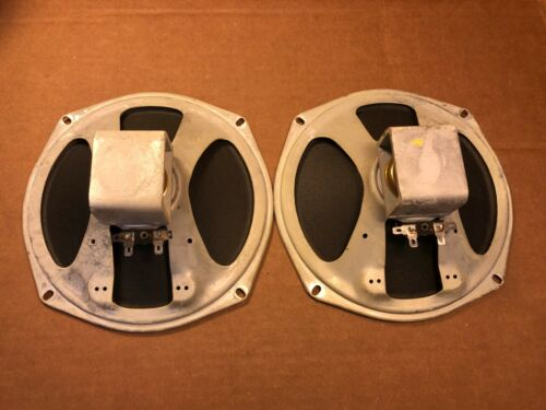 "Pair of Vintage 1960 Magnavox 8"" Speakers Full Range Open Baffle Alnico 4-ohm"