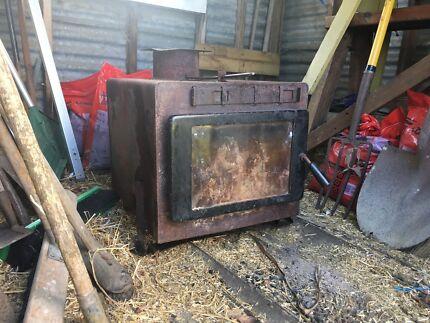 Wood heater plus flue