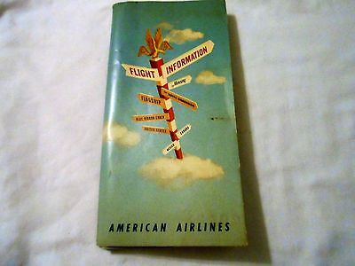 American Airlines Flight Information Compete  Nice Vtg