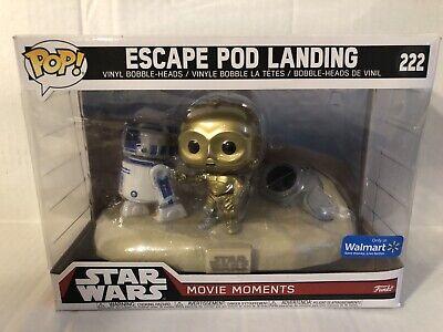 Funko Pop! Star Wars Movie Moments Escape Pod Landing R2D2 C3PO #222 Walmart