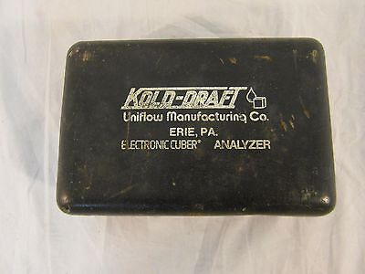 Kold Draft Ice Machine Electronic Cuber Analyzer W Original Case 32658