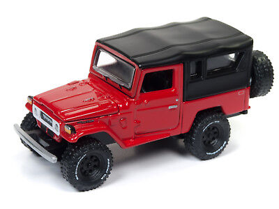 Johnny Lightning Toyota Land Cruiser 1980 Red Black Softtop Jlcp7063 1 64