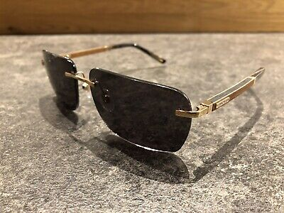 chopard Sonnenbrille 3p Schb 76v 300p Polarized Carbon Fiber / Wood Gold