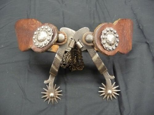 Early Mint California Silver inlaid Spurs