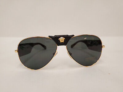VERSACE VE2150Q 1002/87 Gold Gray 62 mm Men's Sunglasses P6L50912B