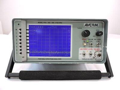 Avcom Psa-45d Portable Spectrum Analyzer 950 - 2150 Mhz 90 Day Warranty
