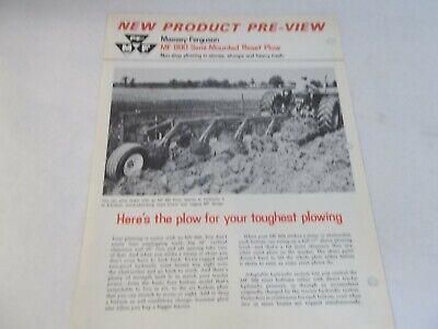 Massey Ferguson Mf 880 Semi Mounted Reset Plow Brochure