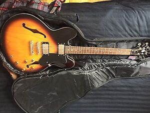 Epiphone Dot ES-335 with Orange Microcrush, cable and gig bag