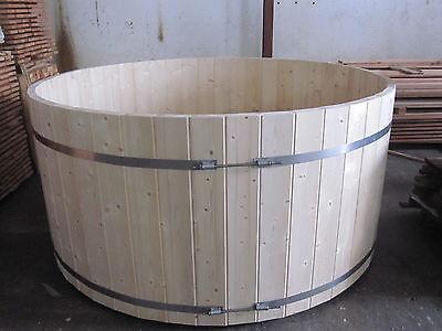 Badebottich Badefass Badebecken Badezuber Holz Bausatz Wasserfass Wasserfässer