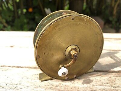 "VINTAGE SOLID BRASS 3"" FLY FISHING REEL - FOR CHILD?"