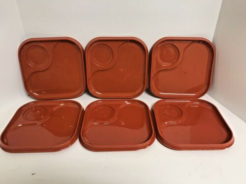 Vintage Whataburger Trays Plastic Orange Plates Set of 6