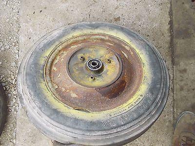 1940 John Deere L Tractor Jd Cast Front Hub  Rim Firestone 5.00x15 Tire