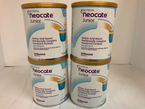 4 CANS NEOCATE JR UNFLAVORED 14.1 OZ 11/2020
