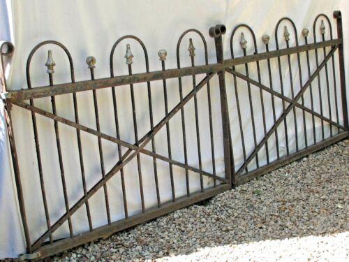 """Antique Pair  8"""" 4""""  Iron  Victorian Garden Gates"""