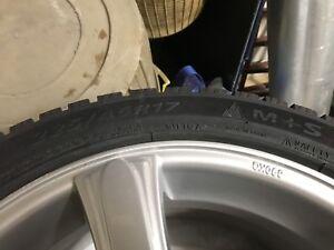 Altenzo 225/45/17 winter tire pneus dhiver AVEC RIM 4x100 5x100