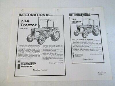 International Harvester Model 784 Tractor Advertising Template
