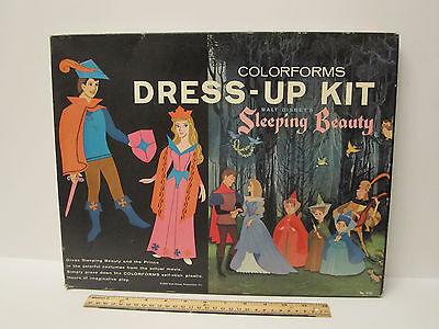 #2150 Disney Sleeping Beauty COLORFORMS Dress UP Kit SET VINTAGE 1959 w/box+bklt