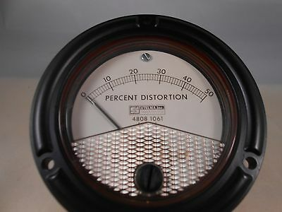 631-15905 Percent Distortion Meter 0-50  New Old Stock 3 12 Round