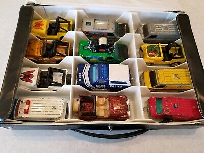 12 Hot Wheels and Tomica Jeeps and Vans in Getaway Set; 1974-1990; Some Rare!