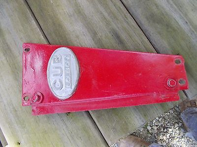 Farmall Cub Low Boy Tractor Good Original Ih Radiator Left Side Panel Emblem