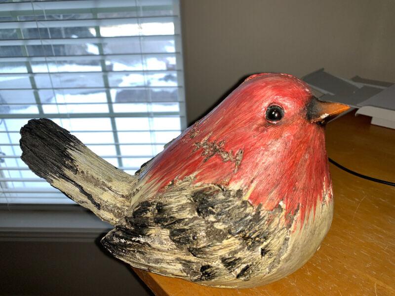 Beautiful Large Resin Sparrow Bird Figure Shelf Or Outside Garden