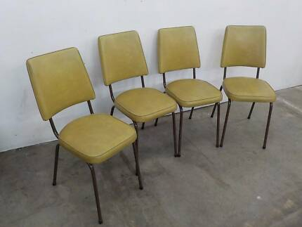 B16053 Set 4 Vintage RETRO Dining Kitchen Chairs CAFE Unley Unley Area Preview