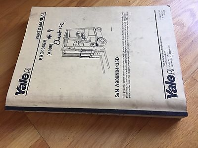 Yale Erc065gh 65 Electric A908 Forklift Parts Catalog Manual Truck Jack