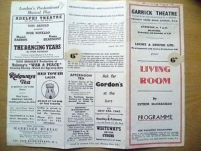 Garrick Theatre Programme 1943- LIVING ROOM by E McCracken