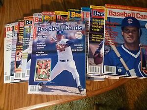 BASEBALL-CARDS-MAGAZINE-1990-COMPLETE-YEAR-OF-12-ISSUES