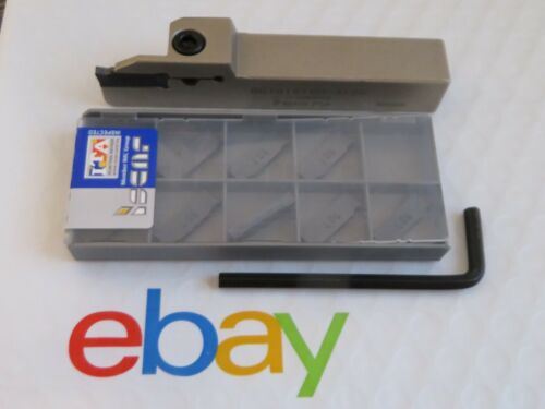 DGTR 1616 Tool Holder & 10 ISCAR Carbide cut parting off inserts DGN 3003J IC907