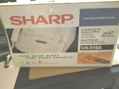 Sharp Ux-510a Fax Machine Plain Paper Facsimile Working