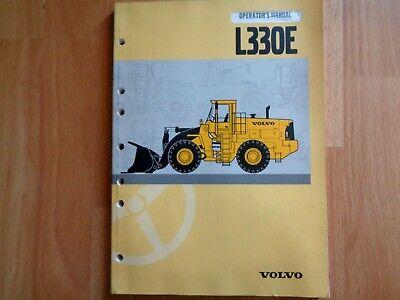 Volvo L330e Wheel Loader Factory Operators Manual 176 Pgs Oem