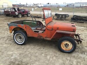 1946 willys CJ 2A fairly complete