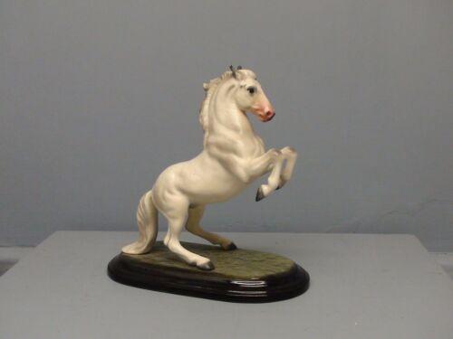 Exceptional San Dimas Hagen Renaker DW Lipizzan Horse w/ Pink Nose