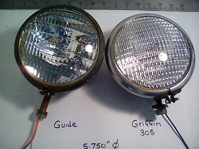 1 Lot Of 2 Vintage 5.750 Sealed Beam Tractor Implement Lights Guide Griffen