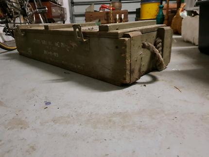 Large Wooden Ammo Box