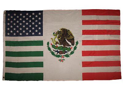 3x5 usa mexico combination flag mexican american