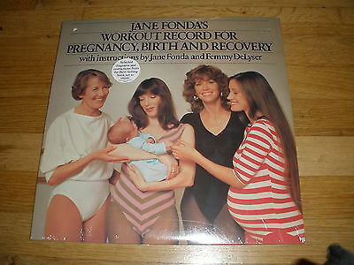 JANE FONDA workout for pregnancy birth recovery LP RECORD - Sealed