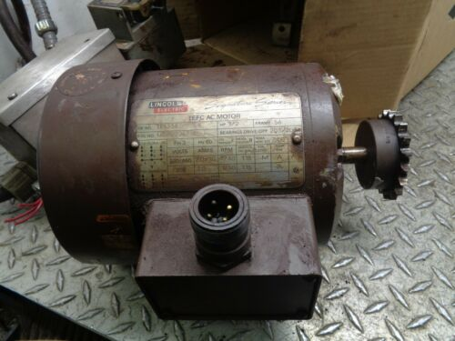 LINCOLN ELECTRIC TEFC AC MOTOR FRAME 56 PH  3 1/2 HP TF5336 WITH SQUARE D MANUAL