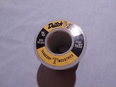 Nos Dutch Boy 5050 Wire Solder 16 Oz.