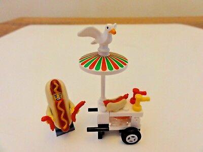Custom Lego City Minifigure Hot Dog Man Costume Vendor w/ Stand 60134 Seagull  - Lego Man Costume